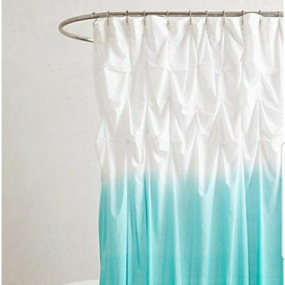 Anthropologie Aqua Ombre Shower Curtain | Poshmark